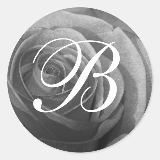 Customizable Rose Monogram Stickers