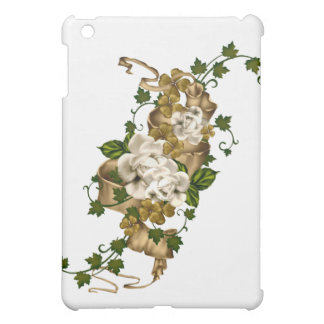 Customizable Roses Gold and Clover iPad Mini Case