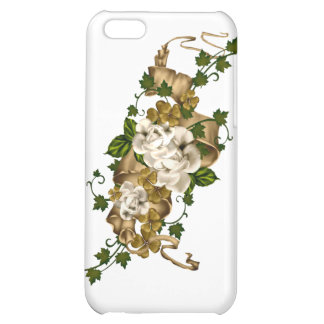Customizable Roses Gold and Clover iPhone 5C Case