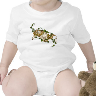 Customizable Roses Gold and Clover Tshirts