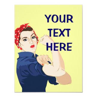 Customizable Rosie Riveter Card