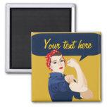Customizable Rosie Riveter Fridge Magnets
