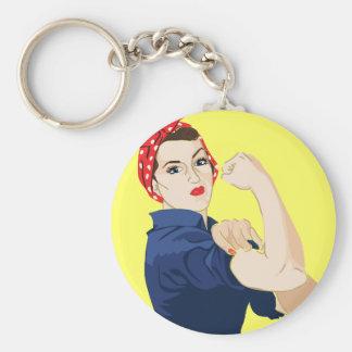Customizable Rosie Riveter Keychain