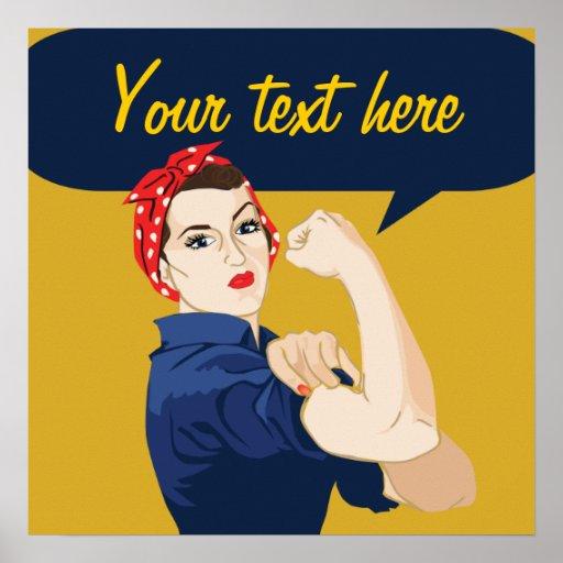Customizable Rosie Riveter Poster