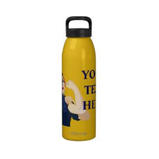 Customizable Rosie Riveter Drinking Bottle