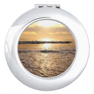 Customizable Round Photo Compact Mirror