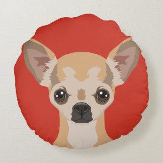 Customizable Round Throw Pillow - Choose Color