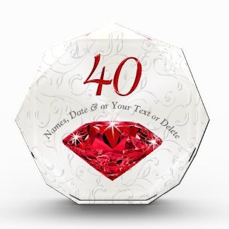 Customizable Ruby 40 Year Anniversary Gift Ideas