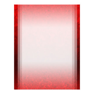 Customizable Ruby Red Clouded Fade Letterhead