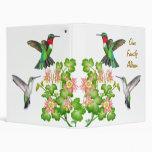 Customizable Ruby Throated Hummingbirds Avery 3 Ring Binder