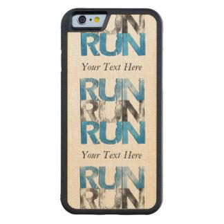 Customizable RUN x 3 Runners Carved® Maple iPhone 6 Bumper