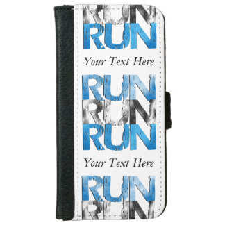 Customizable RUN x 3 Runners Wallet Phone Case For iPhone 6/6s