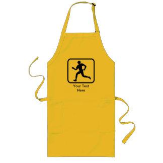 Customizable Runner Logo Long Apron