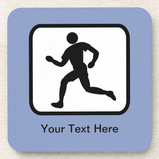 Customizable Runner Logo Coaster