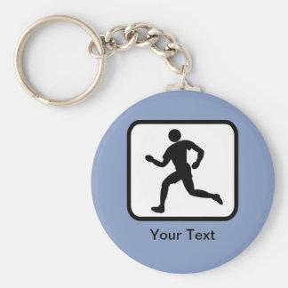 Customizable Runner Logo Keychain