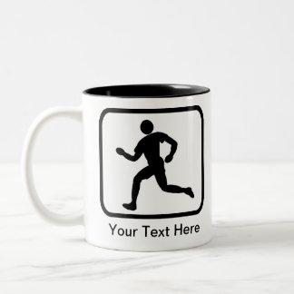 Customizable Runner Logo Two-Tone Coffee Mug