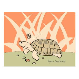 Customizable Russian Tortoise Postcard