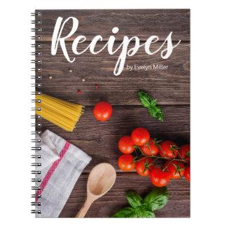 Customizable rustic recipe notebook