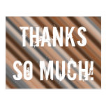 "[ Thumbnail: Customizable & Rustic ""Thanks So Much!"" Postcard ]"