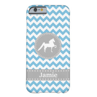 Customizable Saddlebred Blue Chevron iPhone 6 case