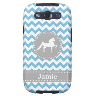 Customizable Saddlebred Blue Galaxy S3 Case