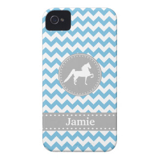 Customizable Saddlebred Blue iPhone 4/4S Case