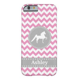 Customizable Saddlebred Pink Chevron iPhone 6 case
