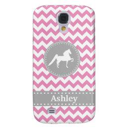 Customizable Saddlebred Pink Galaxy S4 Case