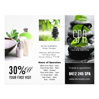 Customizable Salon Three Fold Flyer