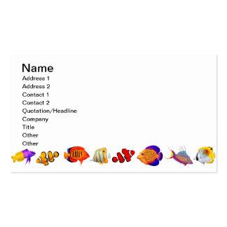 Customizable Saltwater Reef Aquarium Fish Business Business Card