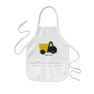 Customizable sand truck with text little chef aprons