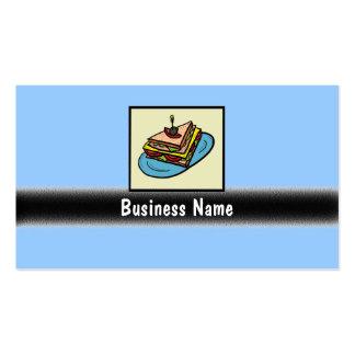 Customizable sandwich shop business cards