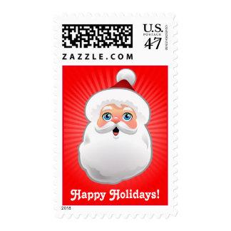 Customizable Santa Claus Head Postage