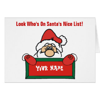 Customizable Santa's Nice List Card
