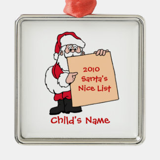 Customizable Santa's Nice List Ornament - Whi