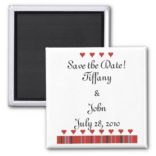 Customizable Save the Date! 2 Inch Square Magnet
