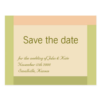 Customizable Save the Date : Authentic Postcard