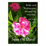 Customizable Save the Date Card, Bright Pink Roses Business Card Template