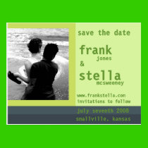 Customizable Save the Date Card Postcard