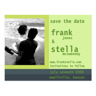 Customizable Save the Date Card Postcards