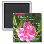 Customizable 'Save the Date' Magnet, Pink Roses