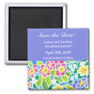 Customizable Save the Date Magnet, Primroses Magnet