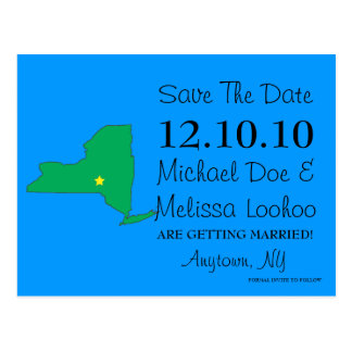 Customizable Save the Date State - NEW YORK Postcard
