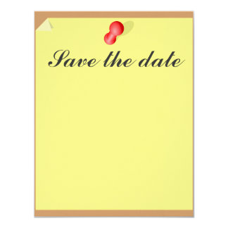 Customizable Save the date sticky note 4.25x5.5 Paper Invitation Card