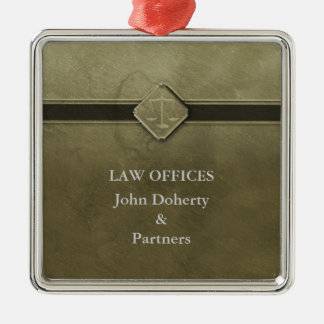 Customizable | Scales of Justice Metal Ornament