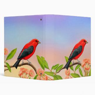 Customizable Scarlet Tanager Bird Binder
