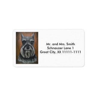 Customizable Schnauzer Address Labels No. 4