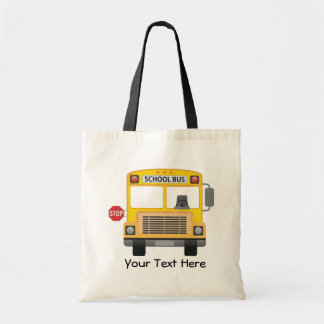 Customizable School Bus Budget Tote Bag