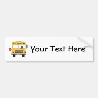 Customizable School Bus Bumper Sticker