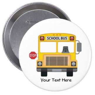 Customizable School Bus 4 Inch Round Button
